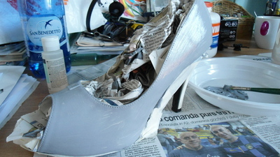 How to paint a pair of painted shoes. Pimp My Heels - Step 3