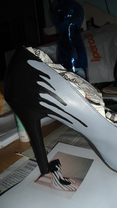 How to paint a pair of painted shoes. Pimp My Heels - Step 6