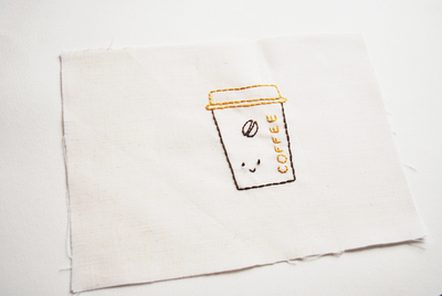 How to make a pouch, purse or wallet. Coffee Gift Bag - Step 2