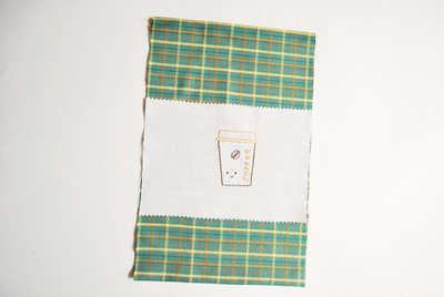 How to make a pouch, purse or wallet. Coffee Gift Bag - Step 3