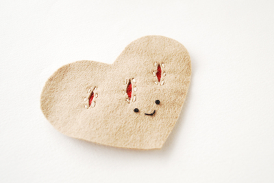How to make a shape plushie. Heart Felt Pastry Plush - Step 2
