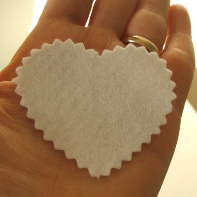 How to make a fabric brooch. Upcycled Fabric Heart Brooch Tutorial  - Step 1
