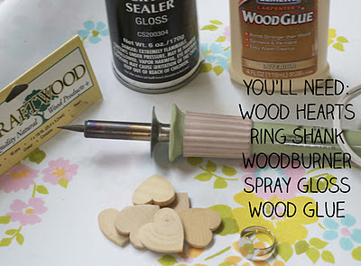 How to make a wooden ring. Woodburned Heart Rings - Step 1