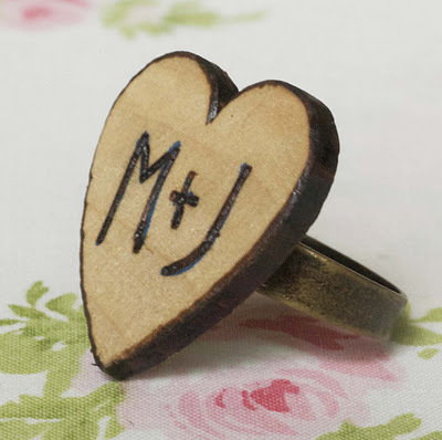 How to make a wooden ring. Woodburned Heart Rings - Step 2