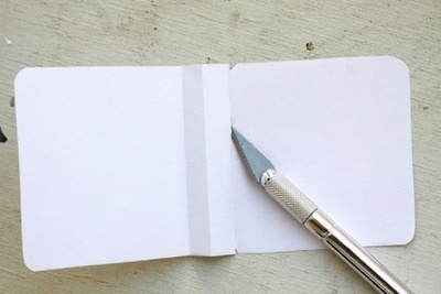 How to make a bound book. Pocket Notebook - Step 7