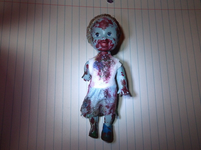 How to make a Christmas decoration. Christmas Zombie - Step 1