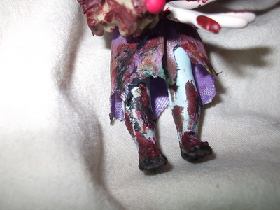 How to make a Christmas decoration. Christmas Zombie - Step 4
