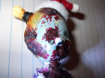 How to make a Christmas decoration. Christmas Zombie - Step 10