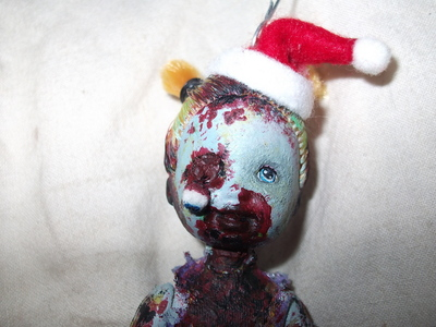 How to make a Christmas decoration. Christmas Zombie - Step 11