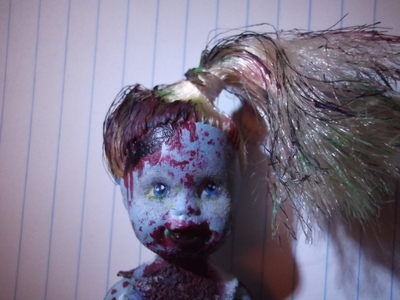 How to make a Christmas decoration. Christmas Zombie - Step 6