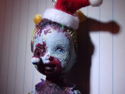 How to make a Christmas decoration. Christmas Zombie - Step 13