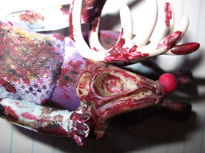 How to make a Christmas decoration. Christmas Zombie - Step 20