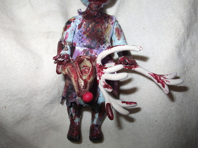 How to make a Christmas decoration. Christmas Zombie - Step 21