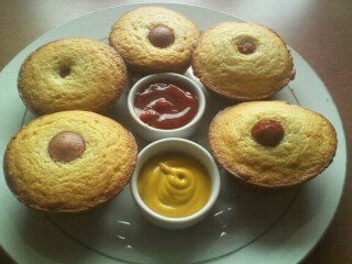 How to bake a savoury muffin. Easy Corn Dog Muffins - Step 9