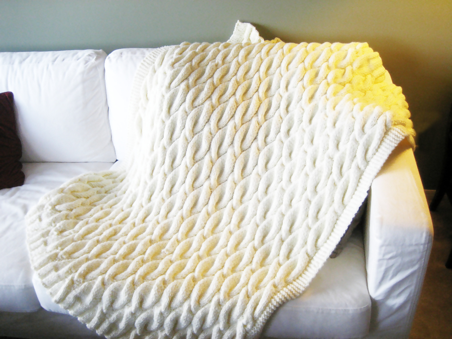 Cabled Blanket · A Knit Or Crochet Blanket · Knitting on Cut Out + Keep