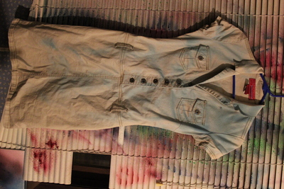 How to dye a dyed dress. Ombre Dyed Trench Dress - Step 2