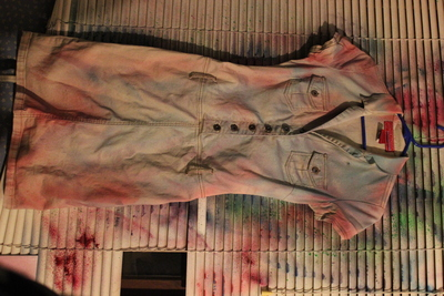 How to dye a dyed dress. Ombre Dyed Trench Dress - Step 3