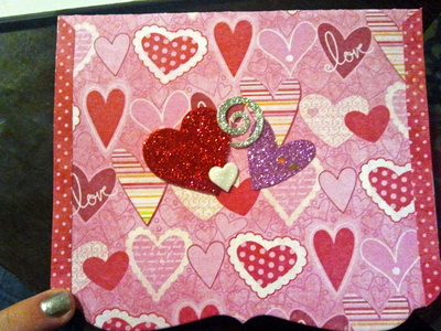 How to make a collages. Homemade Valentine's Day Cards - Step 3