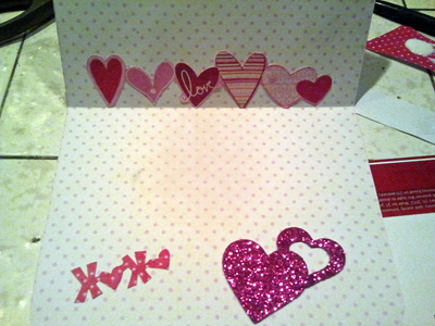 How to make a collages. Homemade Valentine's Day Cards - Step 4