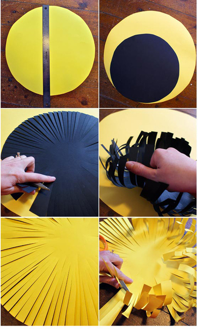 How to make a flowers & rosettes. Giant Paper Flowers - Step 9
