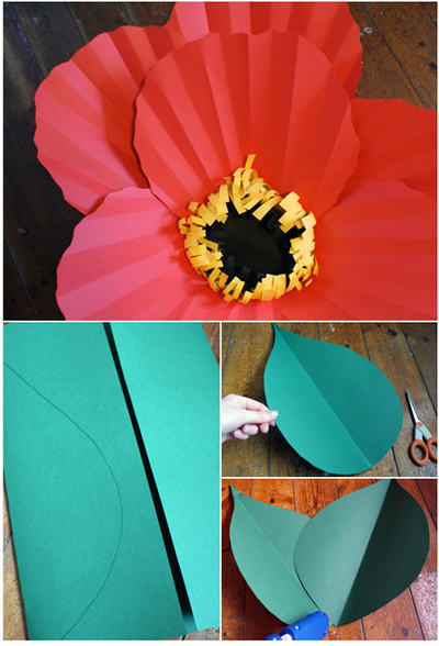 How to make a flowers & rosettes. Giant Paper Flowers - Step 16