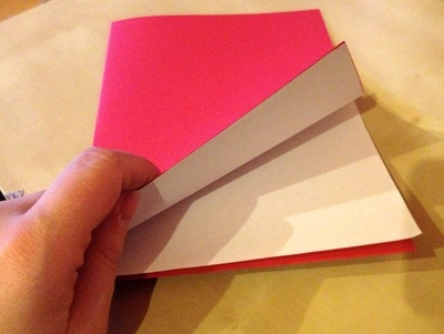 How to make a 3D greetings card. Little Letters Valentine's Card - Step 2