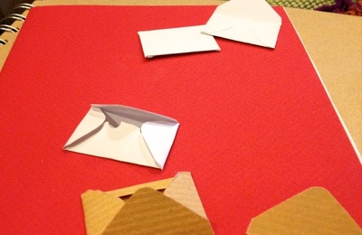 How to make a 3D greetings card. Little Letters Valentine's Card - Step 4