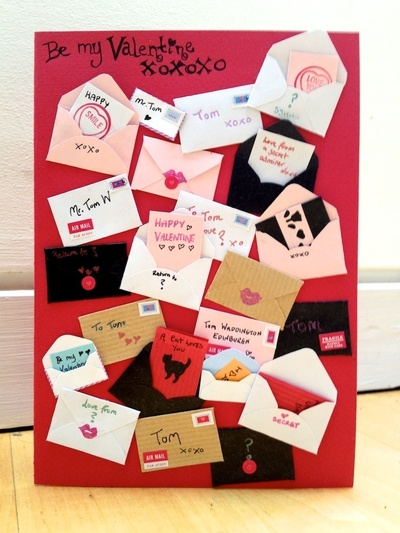 How to make a 3D greetings card. Little Letters Valentine's Card - Step 6