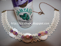 How to make a lace choker. Choker Lace Necklace  - Step 5