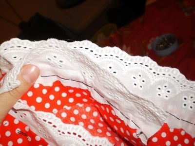 How to make a costume skirt. Minnie Mouse Inspired Skirt - Step 12