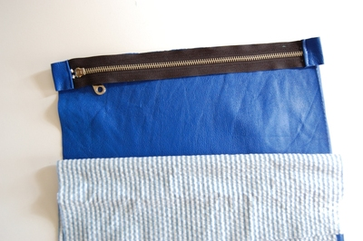 How to make a leather clutch. Leather Foldover Clutch Purse - Step 4