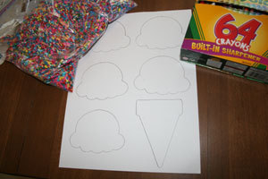 How to make a paper model. Paper Ice Cream Cone Project - Step 1