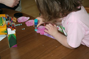 How to make a paper model. Paper Ice Cream Cone Project - Step 3