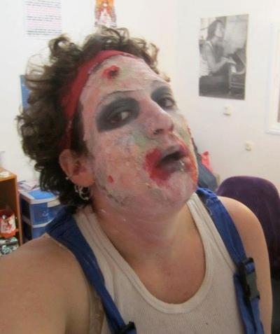 How to make fake skin. Zombie Makeup - Step 6