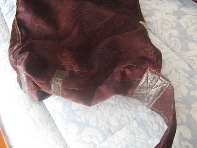 How to make a shoulder bag. Brown Velvet  Sack   Handbag (Ikea Pattern) - Step 8