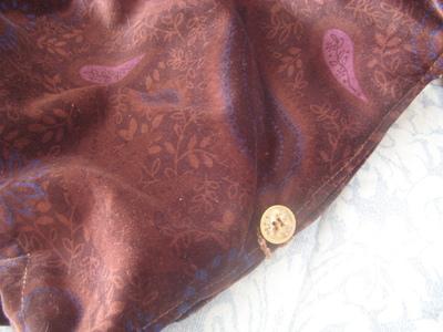 How to make a shoulder bag. Brown Velvet  Sack   Handbag (Ikea Pattern) - Step 9