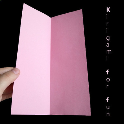 How to make a cut out card. Kirigami Flower - Step 1