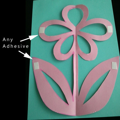How to make a cut out card. Kirigami Flower - Step 4
