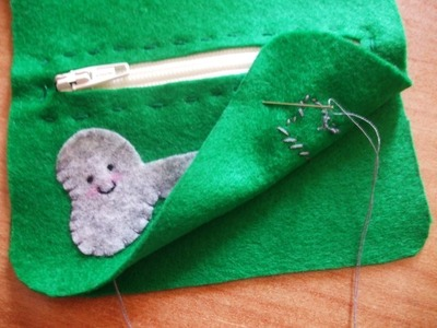 How to make a charm / keyring. Keyring Pouch - Step 9