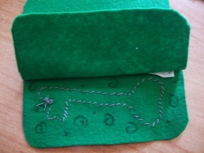 How to make a charm / keyring. Keyring Pouch - Step 10