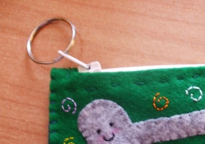 How to make a charm / keyring. Keyring Pouch - Step 13
