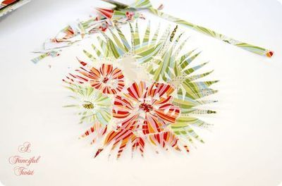 How to make a paper model. Paper Flower Chandelier - Step 9