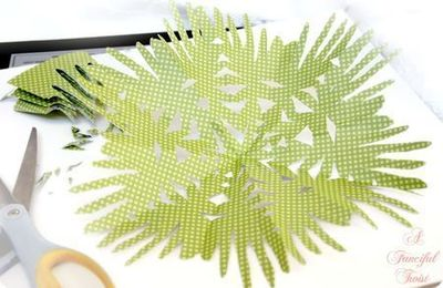 How to make a paper model. Paper Flower Chandelier - Step 10