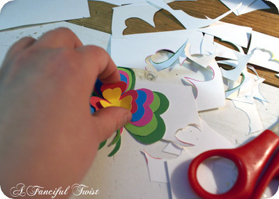 How to make a paper brooch. Shamrock Brooch - Step 4