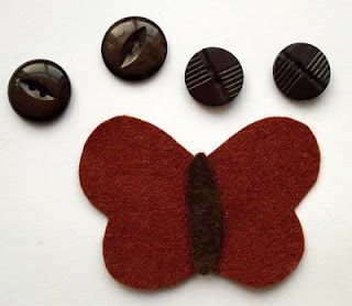 How to sew a fabric animal brooch. Butterfly Brooches - Step 2