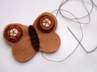 How to sew a fabric animal brooch. Butterfly Brooches - Step 9