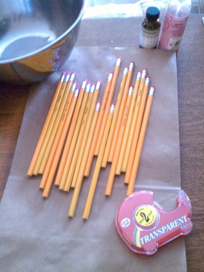 How to make a pens & pencils. Scented Pencils ;) - Step 1