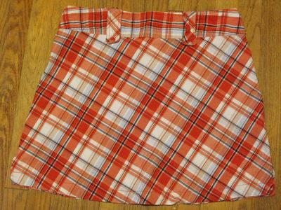 How to make a mini skirt. Funky Plaid Corset Skirt - Step 1