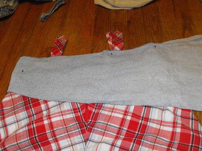 How to make a mini skirt. Funky Plaid Corset Skirt - Step 5