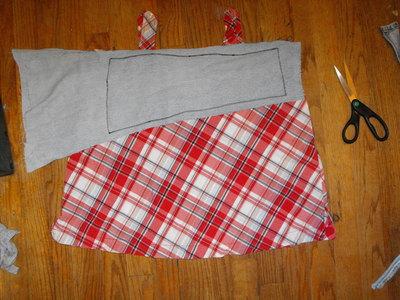 How to make a mini skirt. Funky Plaid Corset Skirt - Step 6